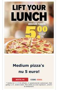 Domino's Medium Pizza voor 5,-