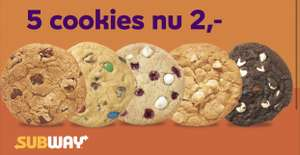 5 Cookies Voor €2 @ Subway