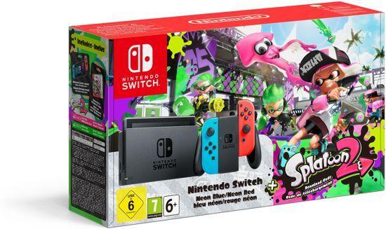 Nintendo Switch Splatoon 2 Console - 32 GB - Blauw/Rood