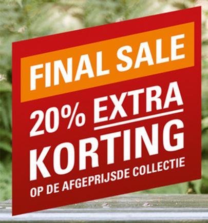 Sale: 20% extra korting @ Schuurman