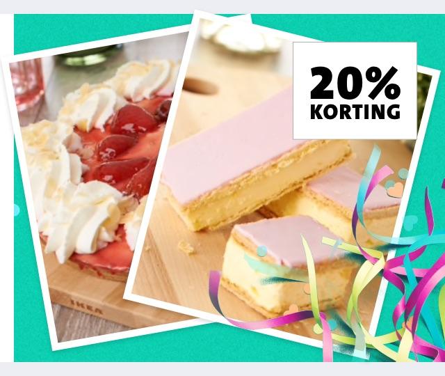 Jumbo: De week voor én na je verjaardag 20% korting op alle taarten en gebak
