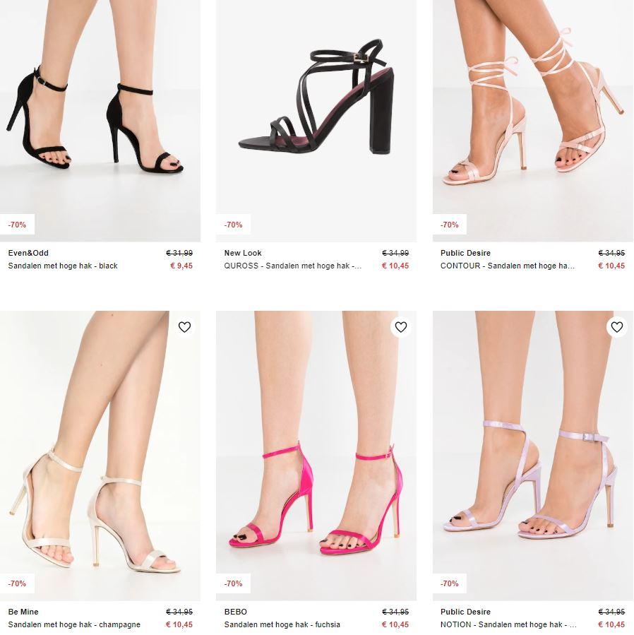 High heels: 150+ modellen tot €15 met 60-70% korting @ Zalando