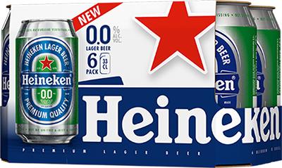 1+1 gratis - 12 blikken Heineken 0.0 voor € 4,27 + gratis glas per 6-pack bij Plus supermarkt