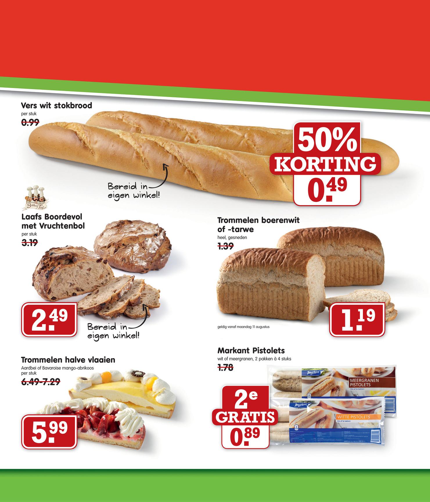 Vers wit stokbrood voor € 0,49 @ Emté