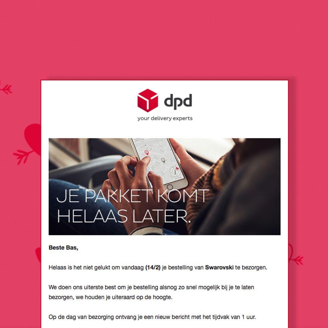 Gratis Gepersonaliseerde Excuusmail voor valentijns dag @DPD