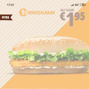Long Chicken voor €1,95 @ Burger King