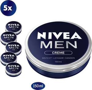 Nivea for men creme 5 * 150ml + deo's