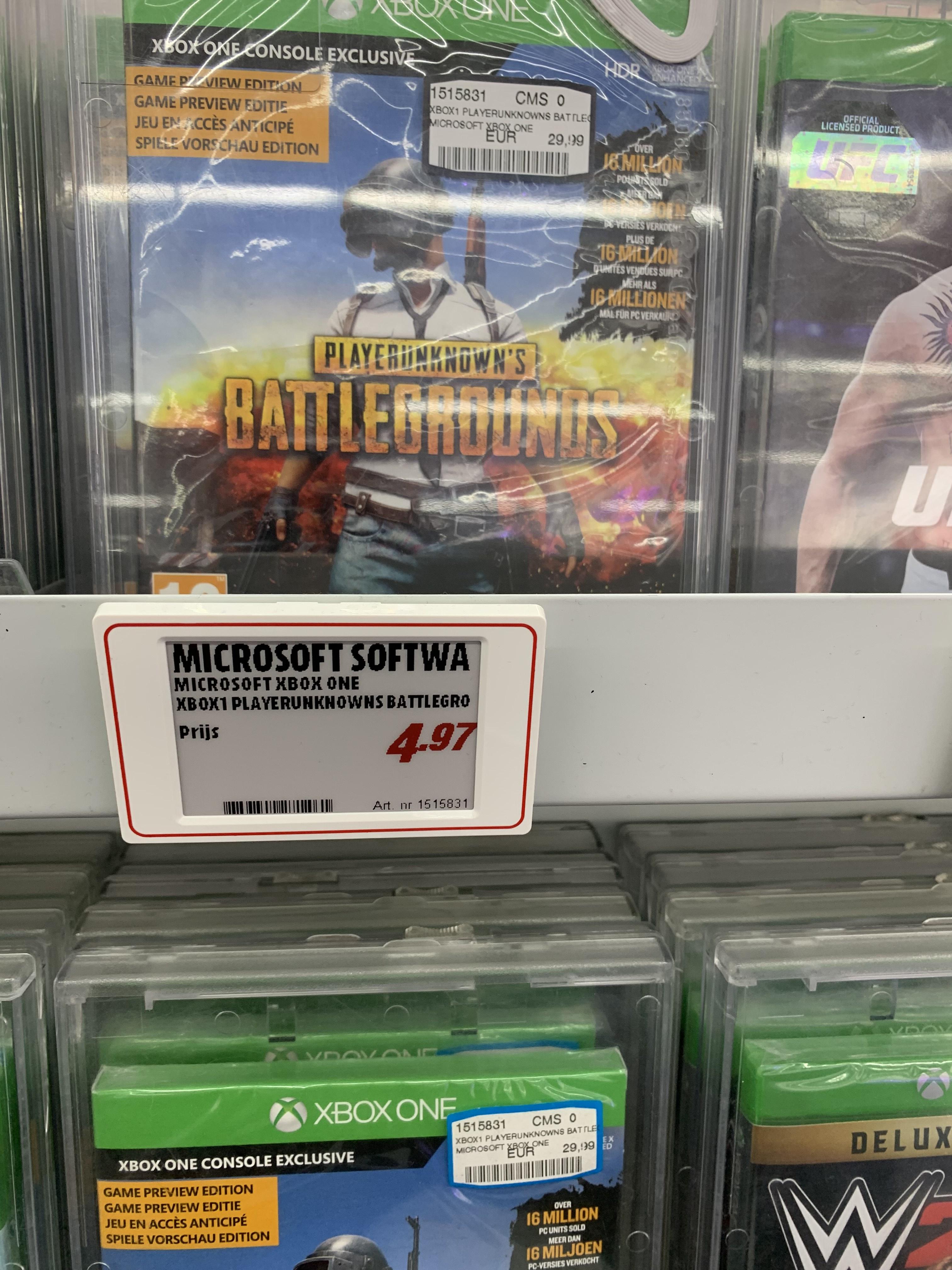 Battlegrounds Xbox one spel aanbieding @ Instore Mediamarkt zZoetermeer