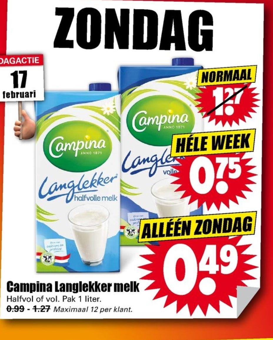 Campina Langlekker Melk (dirk)