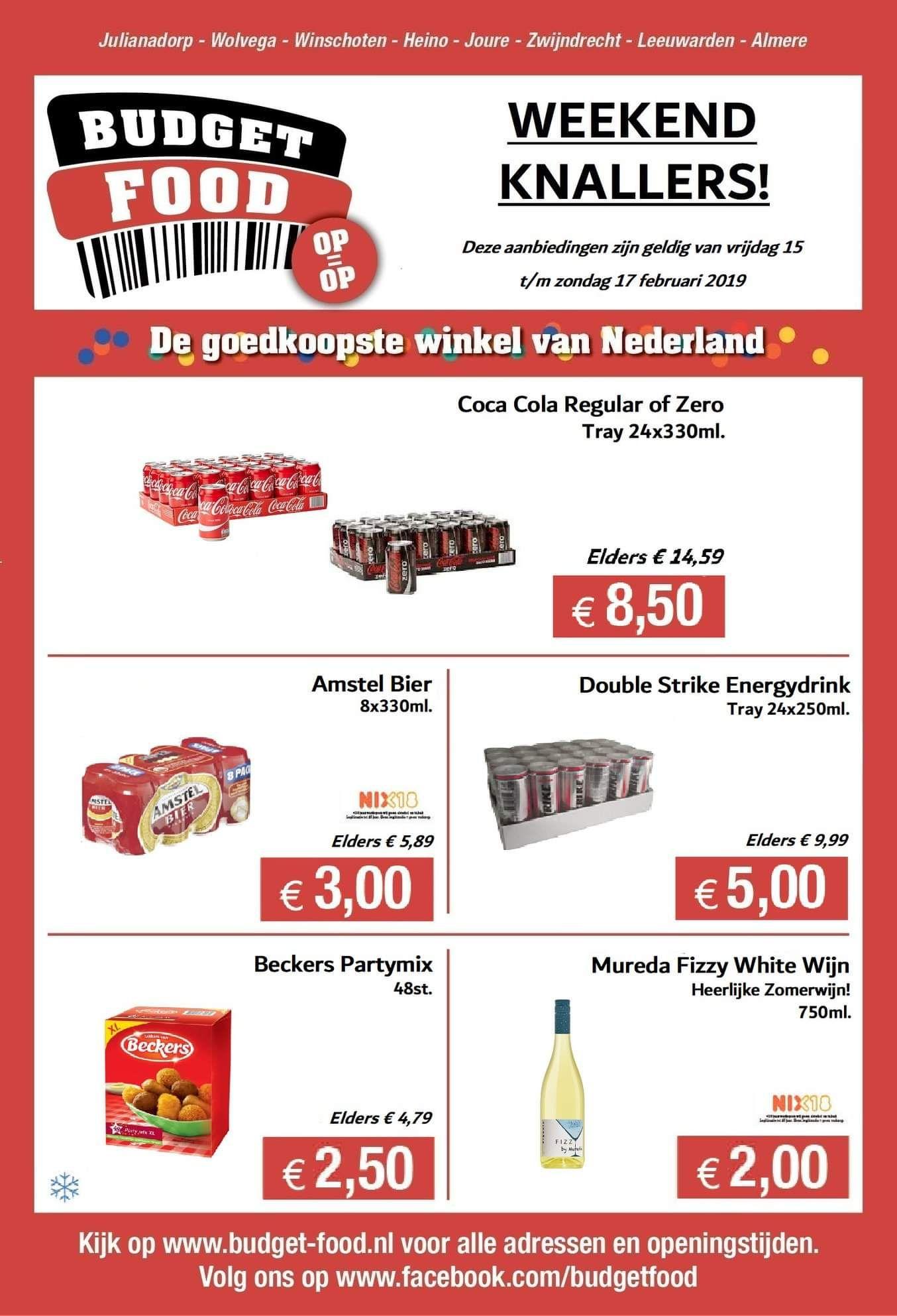 24 blikjes Coca Cola voor €8,50
