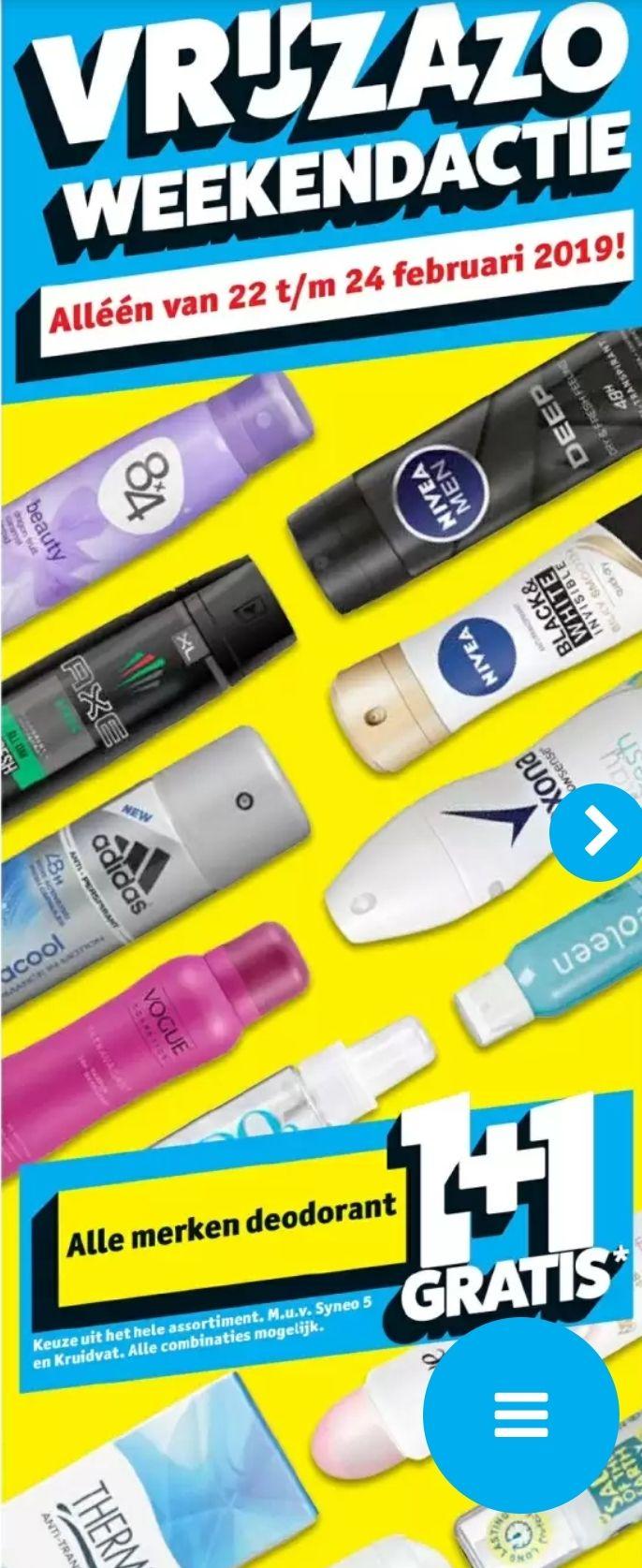 Alle deodorant 1+1 gratis @Kruidvat