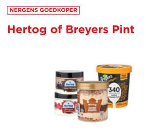 Hertog of Breyers ijs pints 1+1 gratis @ Plus