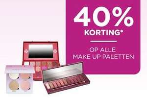 40% korting op alle make-up palettes @ Iciparisxl