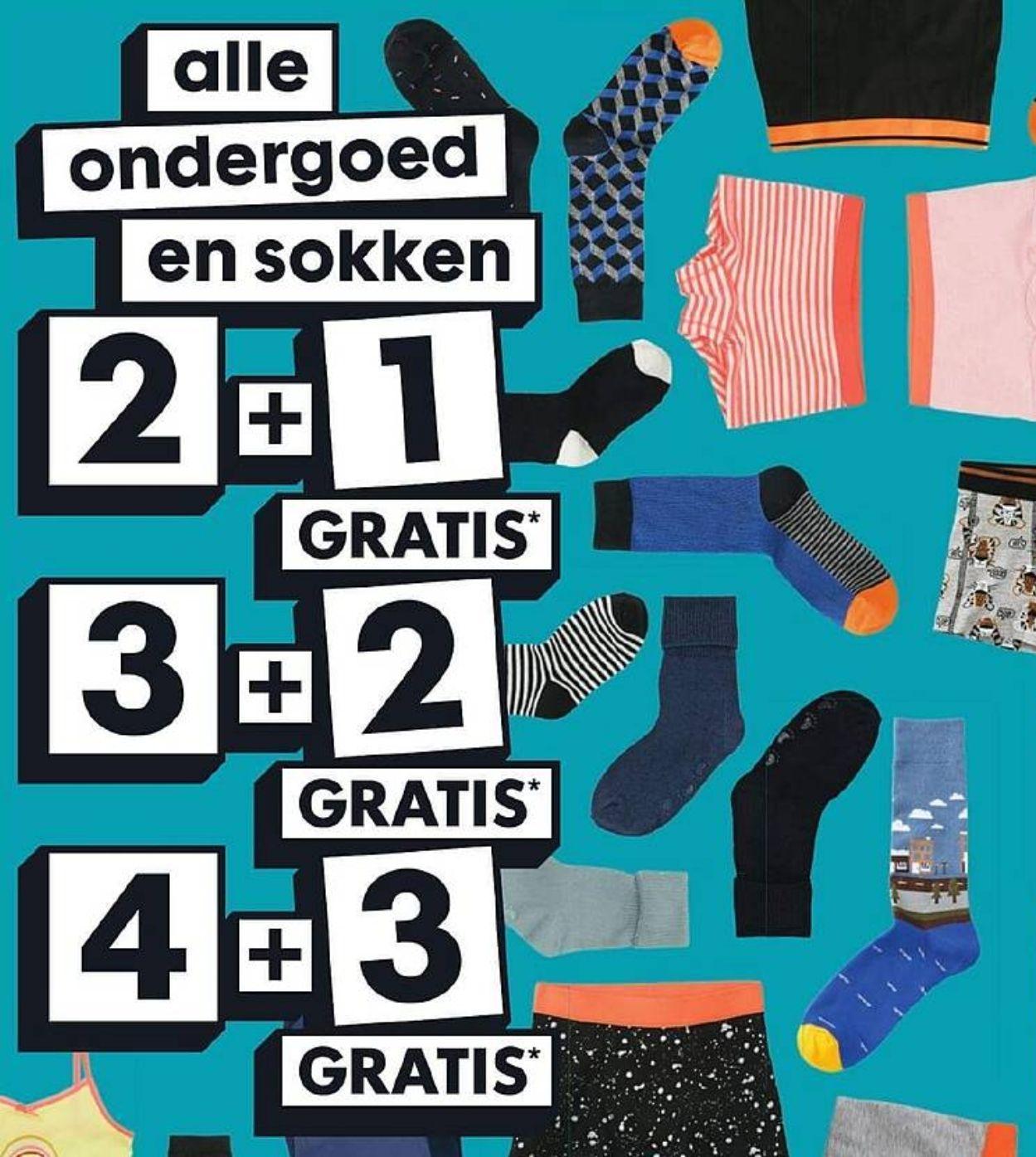 2+1, 3+2, 4+3 gratis op alle ondergoed en sokken @HEMA