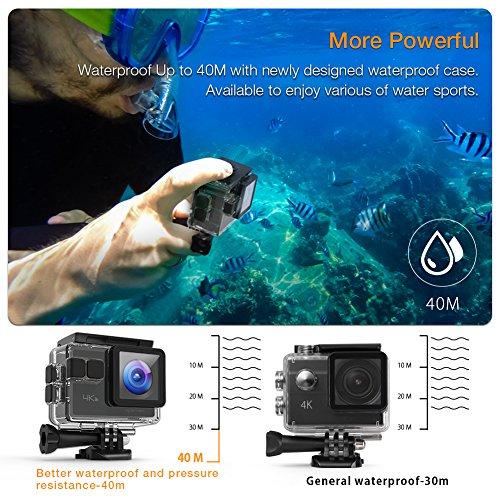 Apeman Actiecamera, wifi-sportcamera, 4 K, 20 MP (met super complete set)