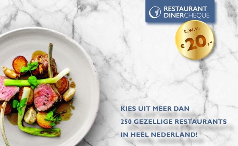 Restaurant Dinercheque met € 20 korting bij restaurants