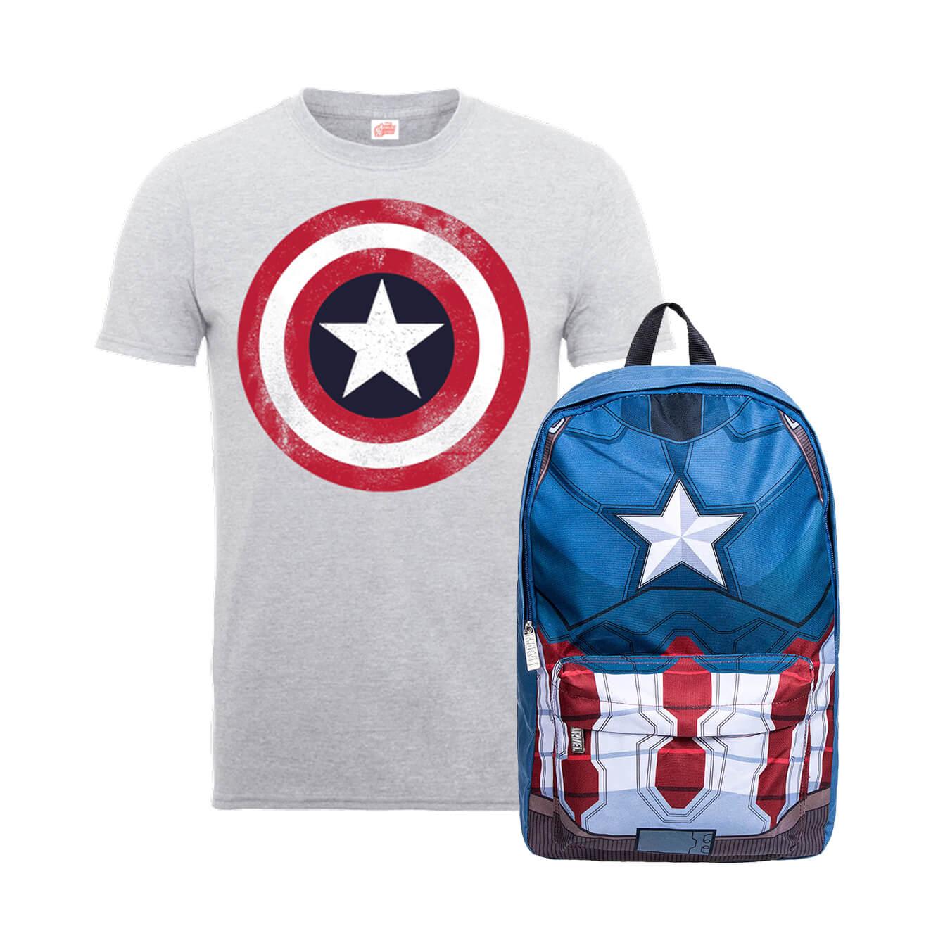 Captain America T-shirt + rugzak