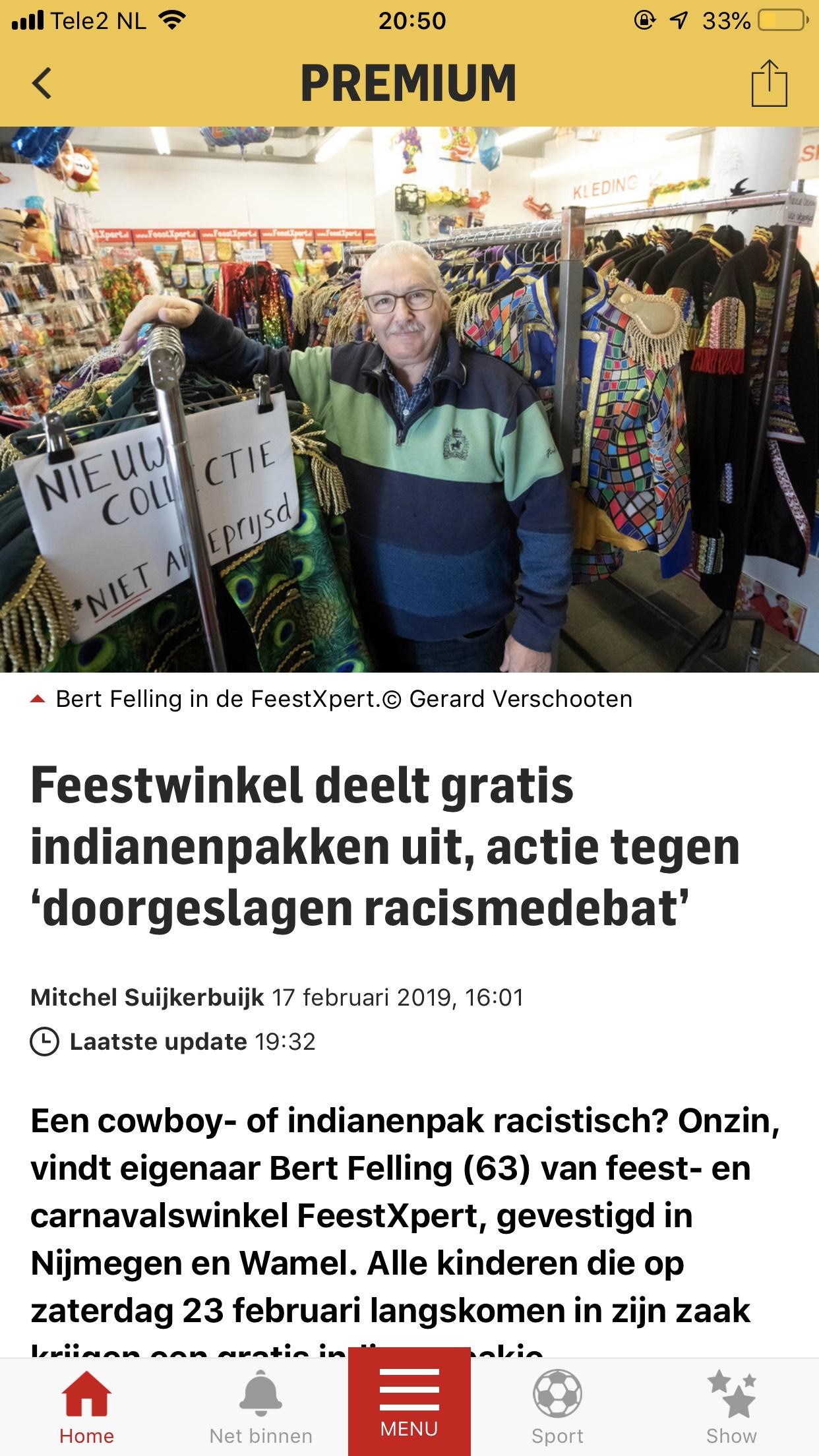 (LOKAAL) 23/2 kinderen krijgen gratis indianen pakje @ nijmegen en wamel