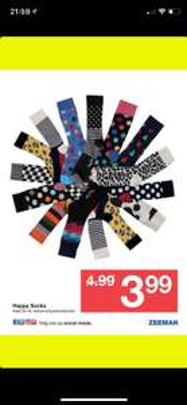 Happy socks 3.99 zeeman