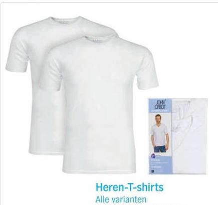 Lokaal Oss Albert Heijn: John Cabot shirts set 2 stuks voor €5, online set 2 stuks voor €7,74