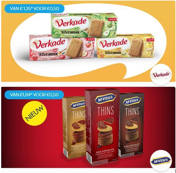 Probeer McVitie's Thins €0,50, Verkade Kletskoek € 0,50 en Nesquick Stick € 0,50 @ Scoupy