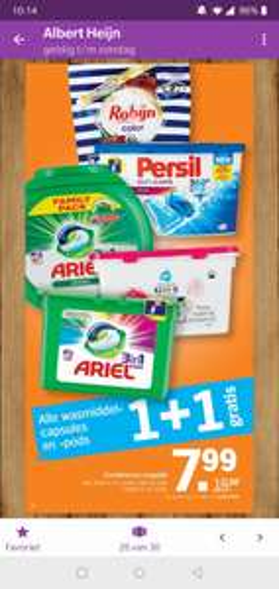 Alle wasmiddelcapsules en -pods 2e gratis