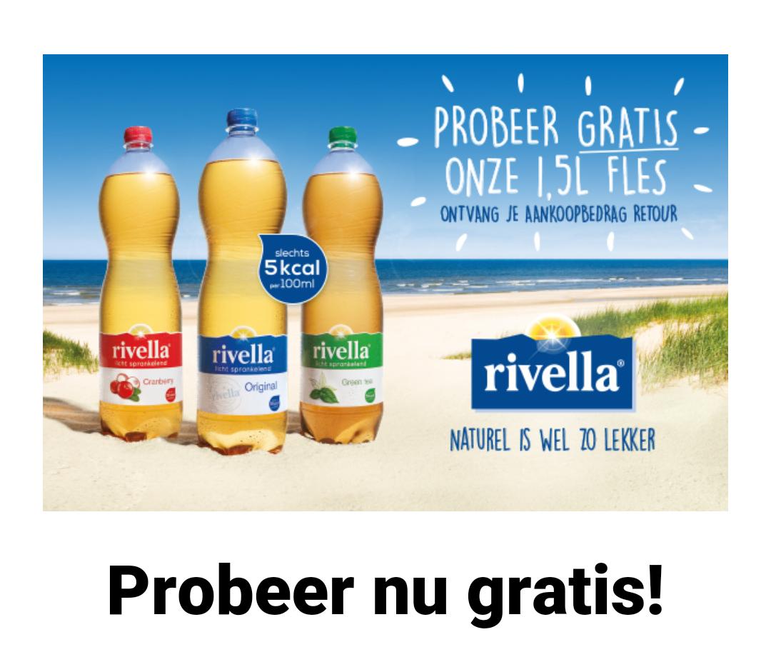 Gratis 1,5 liter fles Rivella