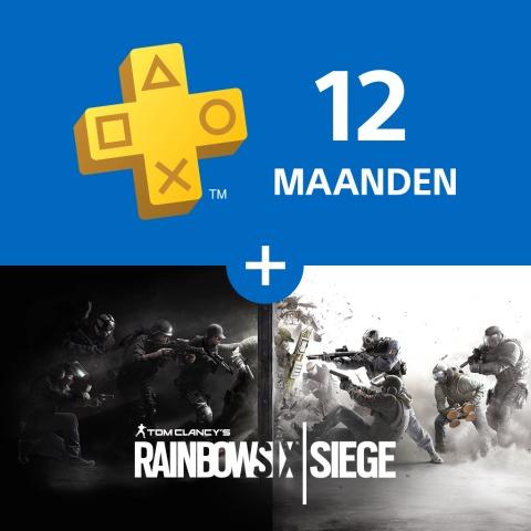 12 maanden PlayStation Plus + Rainbow Six Siege (nieuwe leden) voor €59,99 @ PSN