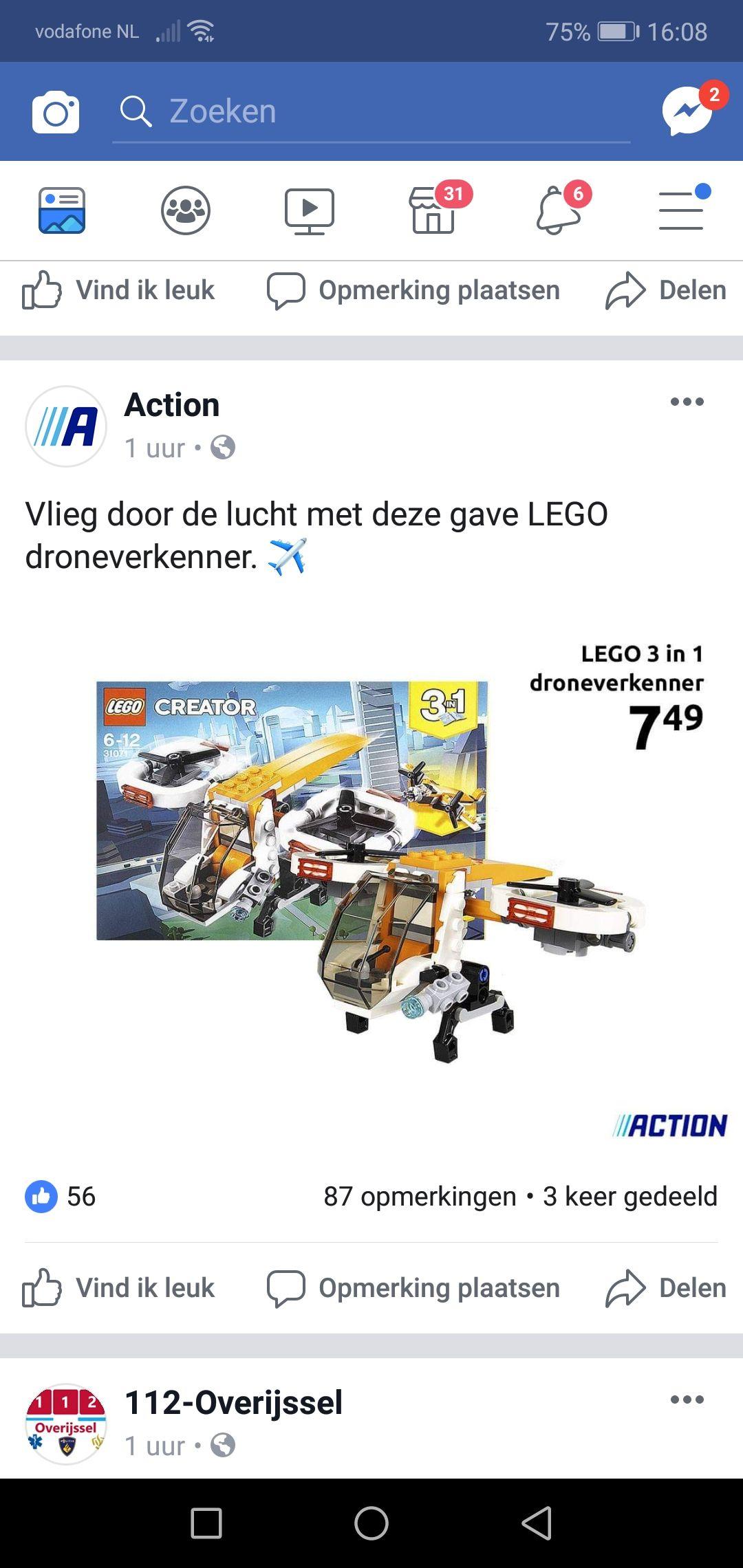 Lego drone verkenner. Action