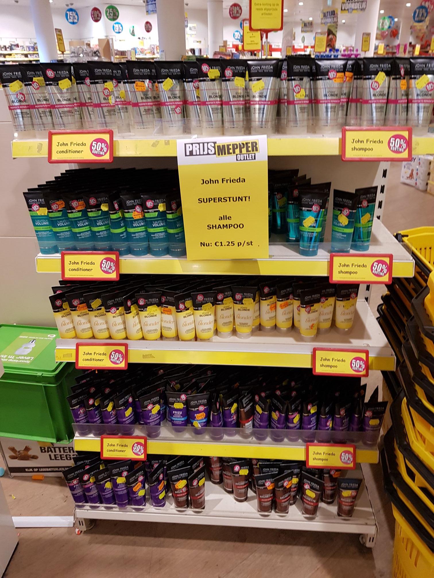 Prijsmepper Zoetermeer John Frieda shampoo €1,25!!