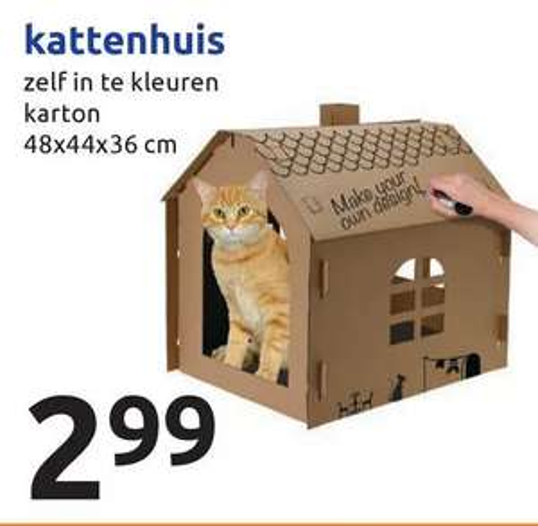 DIY Kattenhuis voor €2,99 @Action