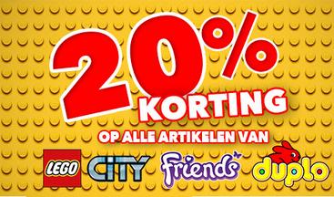 20% korting op alle Lego City, Friend & Duplo @Blokker