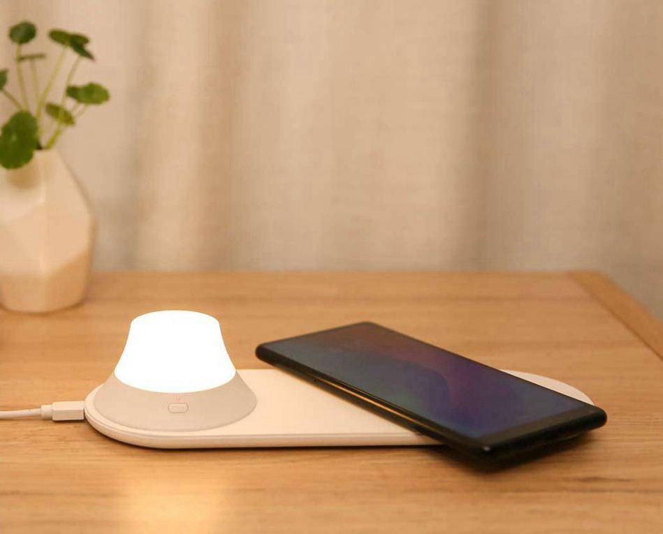 Xiaomi Yeelight nachtlampje met geïntegreerde Wireless Qi