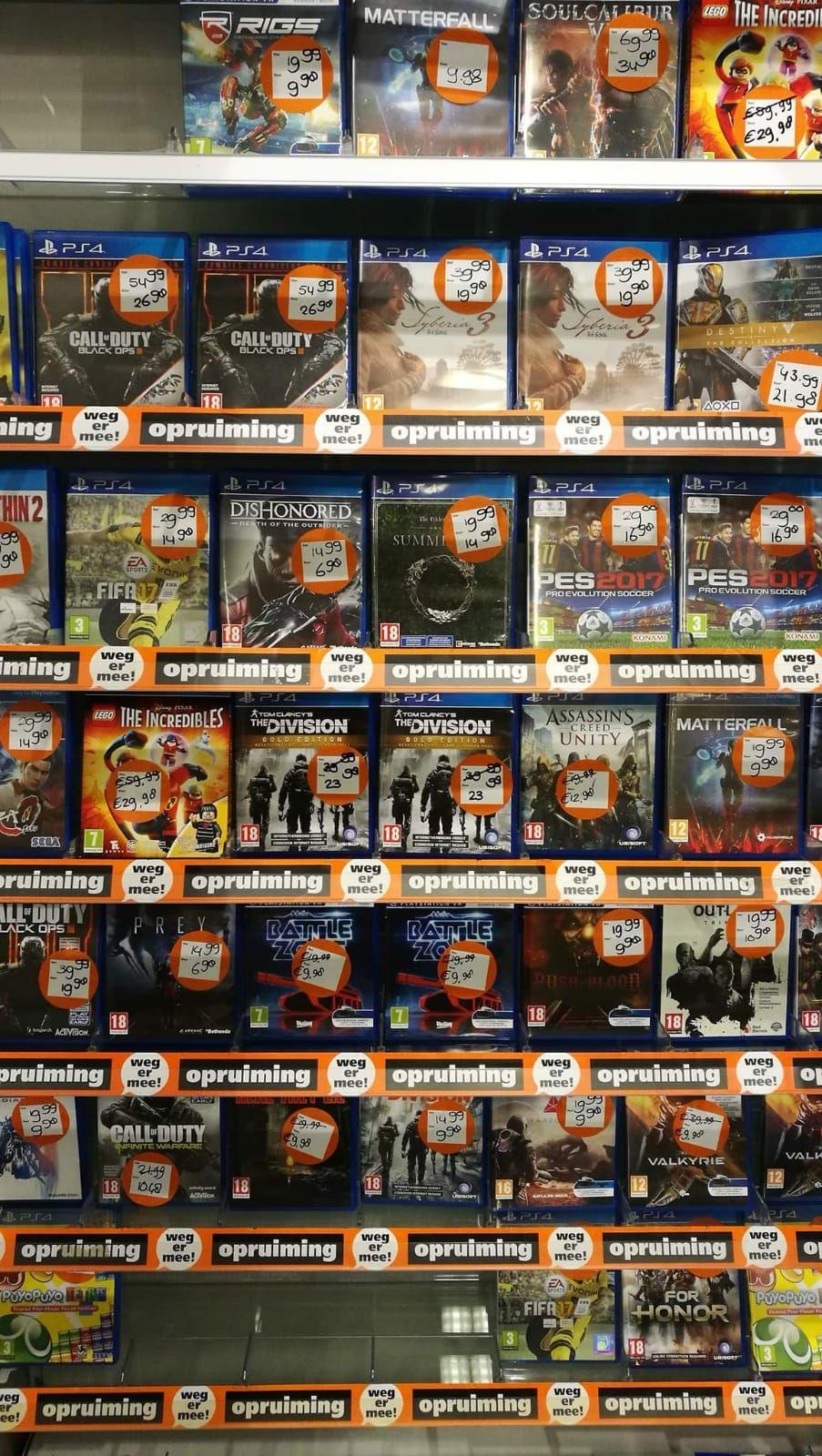 Veel games in de aanbieding bij Intertoys