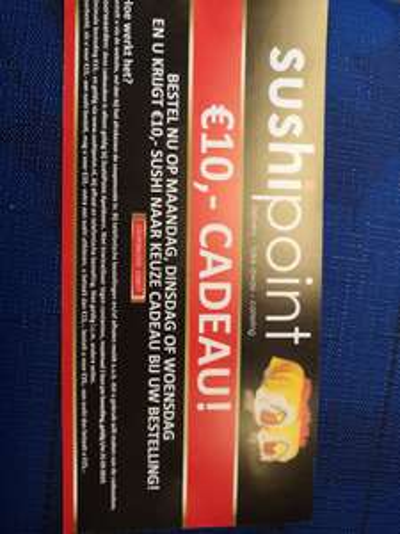 SushiPoint Apeldoorn, 10 euro korting