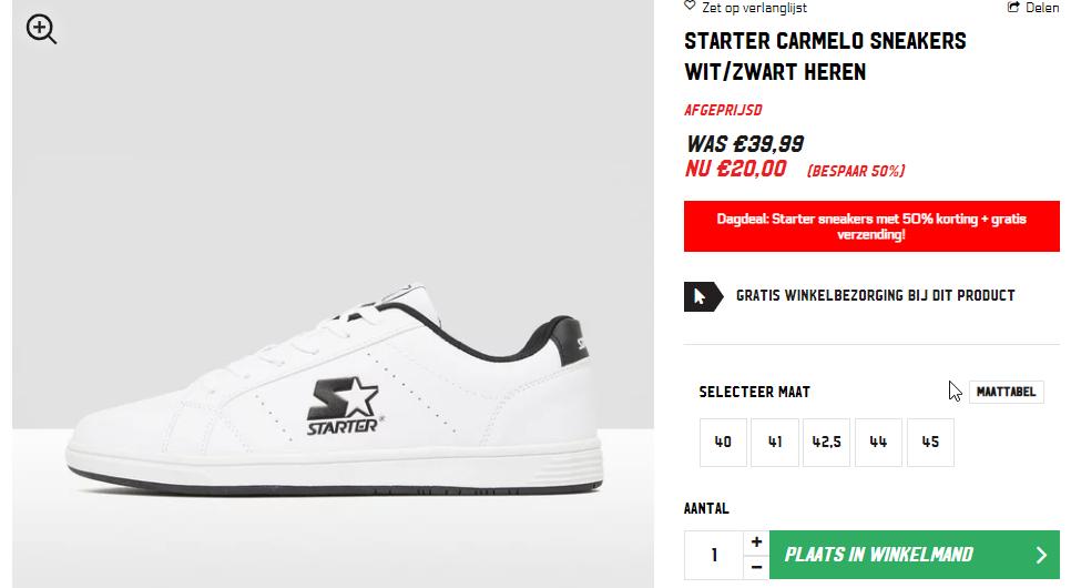Starter sneakers voor €20 inclusief verzenden @ Aktiesport