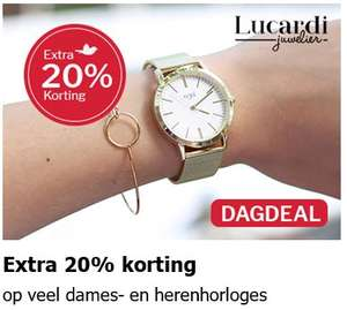 Horloges 20% EXTRA korting @ V&D
