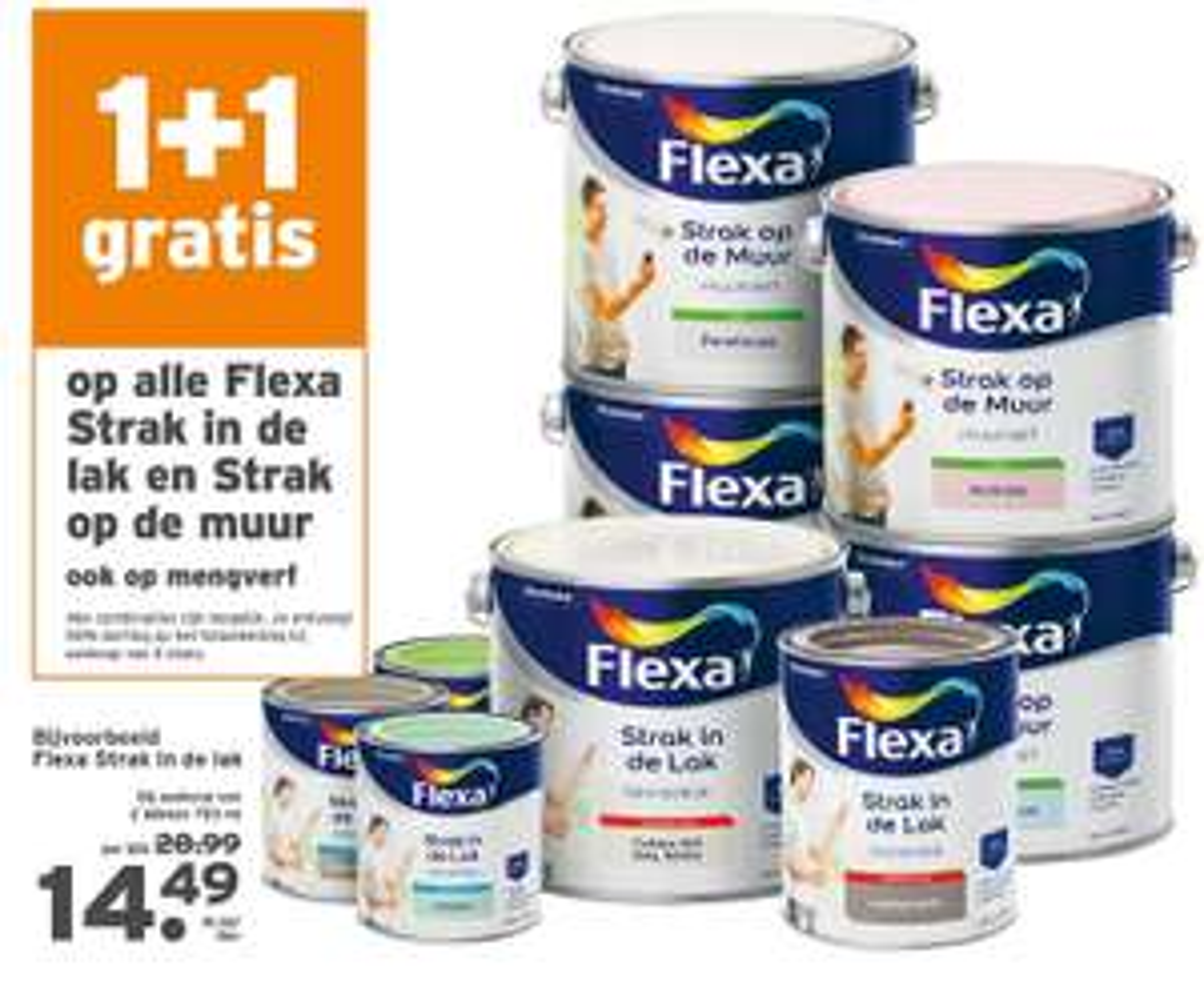 1+1 gratis op alle Flexa lakken @GAMMA