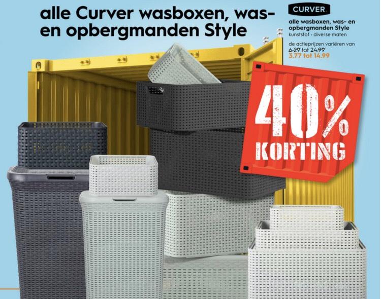 -40% @Blokker: Alle Curver wasboxen, was- en opbergmanden Style