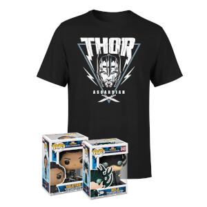 Thor t-shirt + 2 Funko Pop! figuren €17,99 / met trui voor €27,99