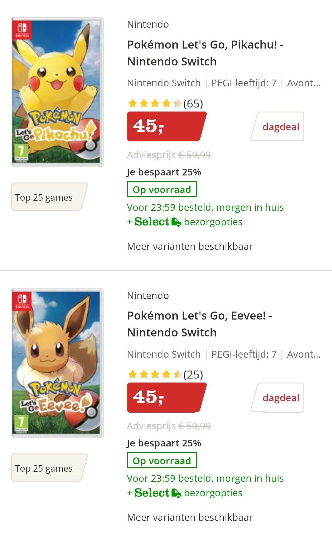 Dagdeals diverse Pokémon artikelen [bol.com]