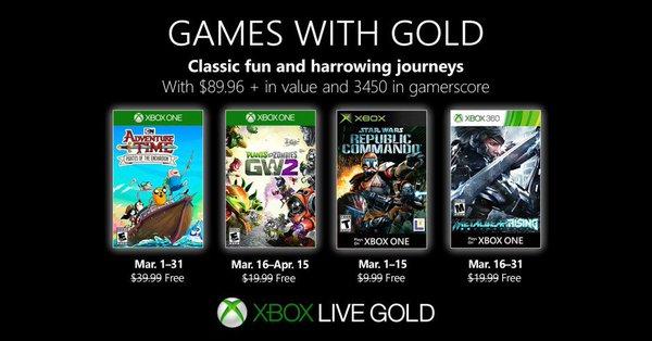 Games with Gold van Maart 2019 @ Xbox