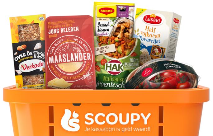 Scoupy nu deels actief: Maggi schotel gratis, korting op Maaslander, Nesquik, Maggi braadstomen, Verkade, Hak, Sultana