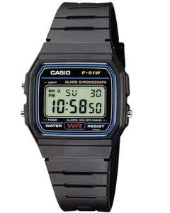 Casio F-91W-1YEF horloge @ Amazon.de