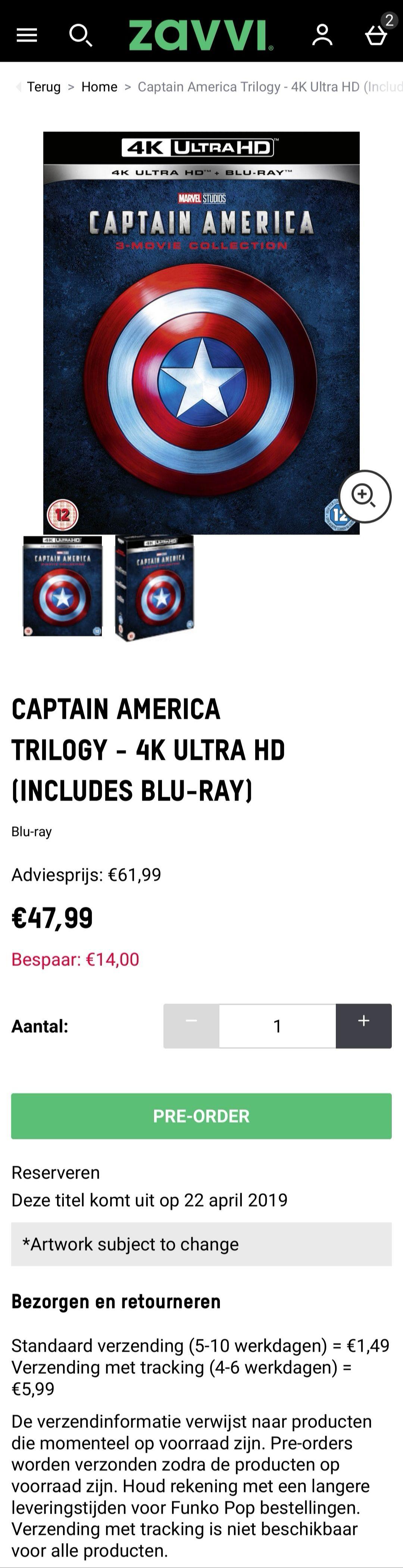 4K UHD Captain America Trilogy Box Set
