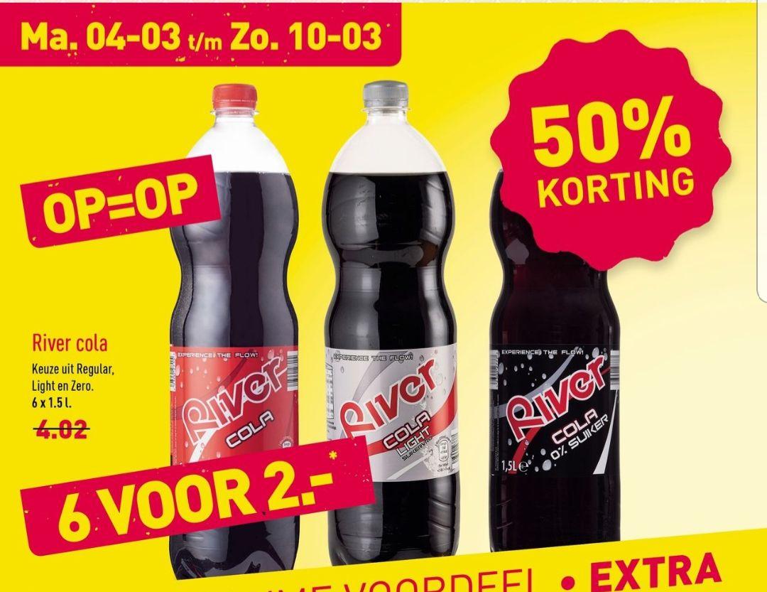 6 flessen Cola voor slechts 2 Euro @Aldi