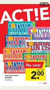Tony's Chocolonely voor €2 @ Deen Supermarkten