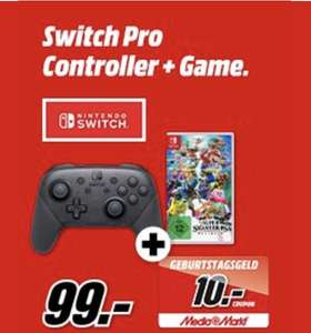 (Grensdeal) Nintendo Switch pro controller Inc. Super smash bros Ultimate
