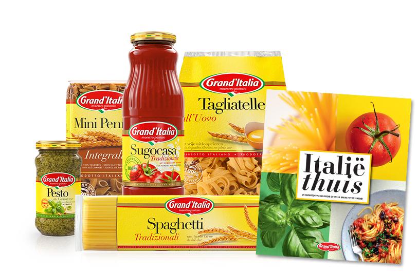 50% cashback op 2 producten van Grand Italia bij Albert Heijn