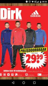 Adidas Core 18 trainingspak bij dirk